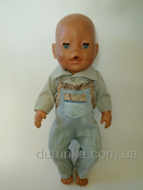 Набор с джинсовым комбинезоном  для пупса-мальчика Baby Born (ББ966) Dutunka