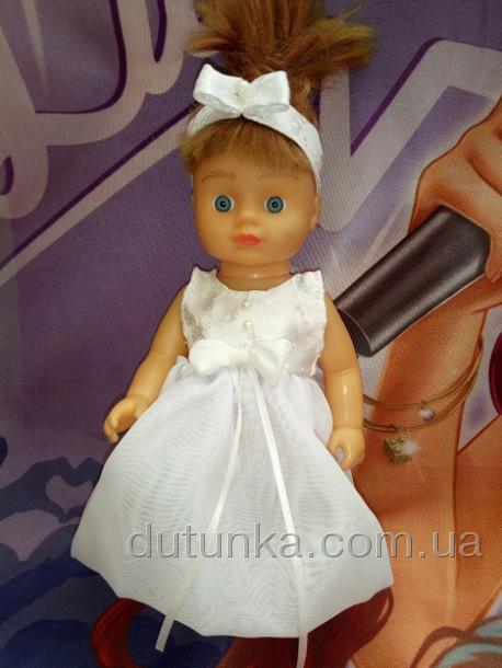Летнее платье с повязочкой для куколки Мадлен (R85) Dutunka