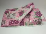 Постельный комплект для пупса ростом до 30 см Розовый кружевной (R90) Dutunka