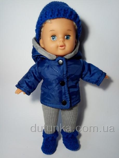 Комплект теплой одежды для пупса 32 см Полосатик (К32-69) Dutunka