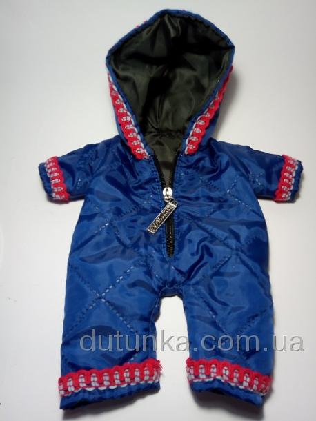 Теплый комбинезон Синий для куклы (К32-71) Dutunka
