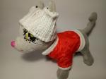 Комплект курточка+шапка для собачки Chi Chi Love  Пламя (Ч364) Dutunka