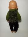 Вязаная кофта и штанишки для пупса Беби борн Зеленая травка (ББ981) Dutunka