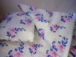 Кукольная постель для пупса Беби борн Синяя роза (ББ914) Dutunka