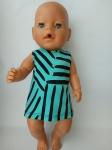 Летнее платье для куклы Беби борн  Бирюза (ББ970) Dutunka