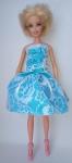Платье для куклы Барби Гепюр.Голубое (Б250) Dutunka