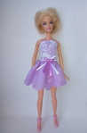 Платье для куклы Барби  Фиалковое (Б55) Dutunka