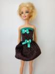 Платье нарядное для куклы Барби Новогоднее (Б89)  Dutunka