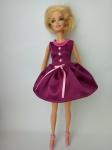Атласное платье для куклы Барби Сиреневое настроение (Б263) Dutunka