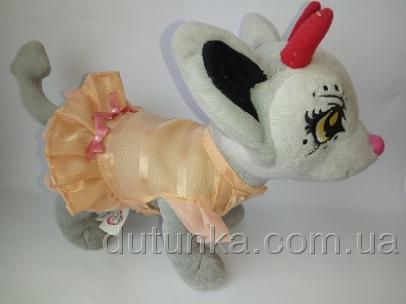 Комбинированное платье для собачки Чи Чи Лав Персиковое(Ч348) Dutunka
