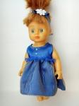 Летнее платье для куколки Синее (R80) Dutunka