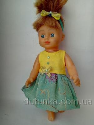 Платье комбинированное летнее для куколки Ализе(R31) Dutunka