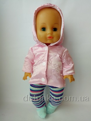 Курточка для пупса ростом 35 см Розовый мишка (К35-57) Dutunka