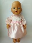 Платье розовое  для пупса Беби борн Розовая мечта (ББ501) Dutunka