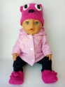 Розовая курточка для пупса-девочки Беби Борн Розочка(ББ696) Dutunka