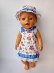 Летнее платье для куклы Беби Борн Летнее(ББ785) Dutunka