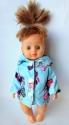 Комплект одежды с плащиком для куколки Голубой (К28-3) Dutunka
