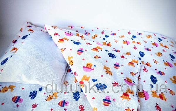 Кукольная постель для пупса-девочки Беби Борн Грибочки (ББ701) Dutunka