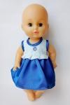 Летнее платье для куколки 35 см Синее (К35-70) Dutunka