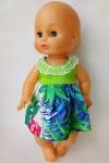 Платье летнее для пупса 35 см Салатовое лето (К35-76) Dutunka