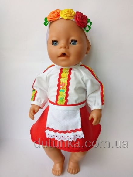 Наряд для пупса-девочки Беби борн Украиночка (ББ990) Dutunka