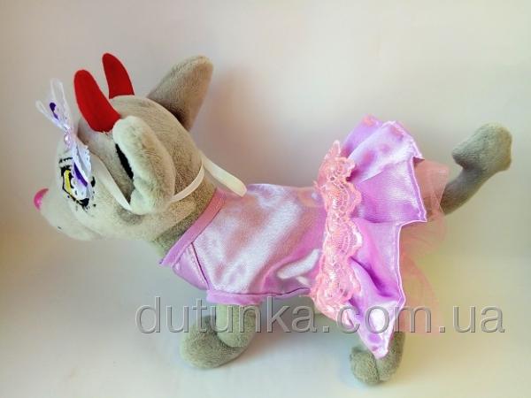 Платье нарядное для собачки ЧиЧиЛав Сирень (Ч112)  Dutunka