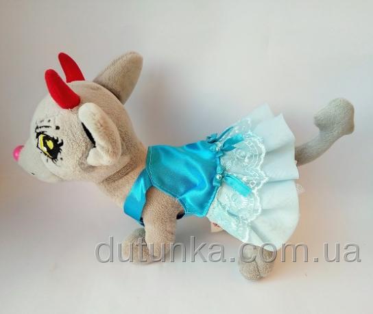 Нарядный сарафан для собачки Чи Чи Лав Лазурь (Ч399)  Dutunka