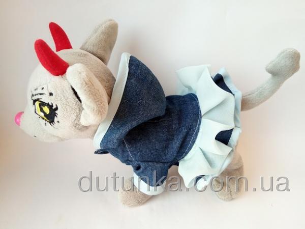 Джинсовое платье для собачки (Ч399)  Dutunka