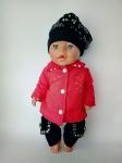 Комплект зимней одежды для пупса-девочки Беби борн Красотка (ББ909)  Dutunka