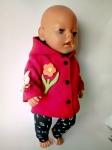 Теплое пальто для пупса Беби борн Цветочек (ББ903)  Dutunka