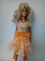 Платье праздничное для куклы Барби Персиковое (Б257)  Dutunka