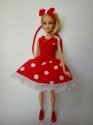 Платье нарядное для куклы Бари Горошки(Б255) Dutunka