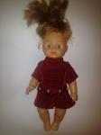 Платье для маленькой куколки Малиновое (R46) Dutunka