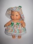 Платье со шляпкой для маленькой куколки Паола Рейна Милена (ПР100) Dutunka