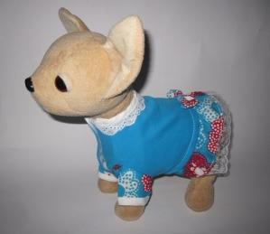 Платье летнее для собачки Чи Чи Лав Летнее небо  (ЧЧЛ107) Dutunka