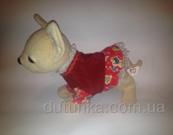 Сукня для інтерактивної собачки Чи Чи Лав Модний принт Dutunka