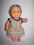 Платье с повязочкой для пупса-девочки Паола Рейна Летнее настроение (ПР121) Dutunka