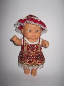 Літнє плаття з панамочка для пупсика Паола Рейна Святкове Dutunka
