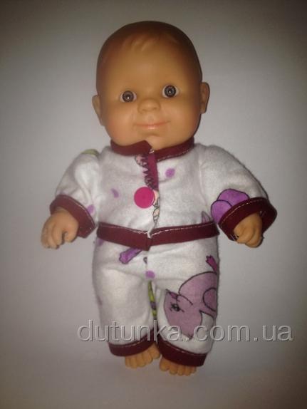 Пижамка теплая для пупса Паола Рейна Сладкие сны (ПР153) Dutunka