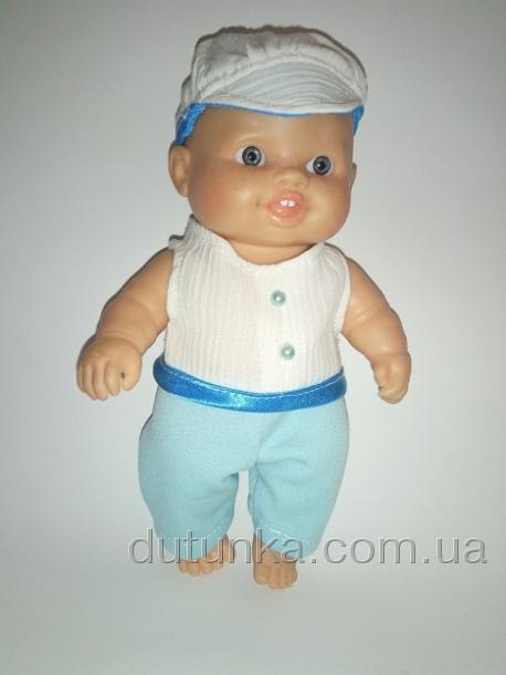 Летний белый костюм для пупса мальчика Блумчик (ПР167) Dutunka