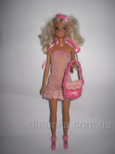Сукня з сумочкою для Барбі Рожевий настрій Dutunka