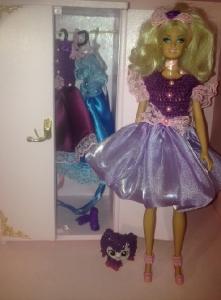 Бальне плаття для Барбі Фіолетовий настрій Dutunka