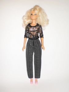 Комплект брючный для куклы Барби Звездный (Б224) Dutunka