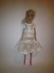 Бальное платье для куклы Барби Кружевное (Б248) Dutunka