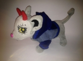 Джинсовий піджак з капюшоном для собачки Chi Chi Love Синій Dutunka
