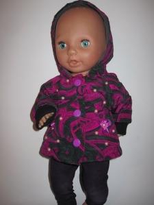Фиолетовая курточка с капюшоном для пупса-девочки (нет в наличии) Dutunka