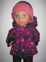Фіолетова курточка з капюшоном для пупса-дівчинки (немає в наявності) Dutunka