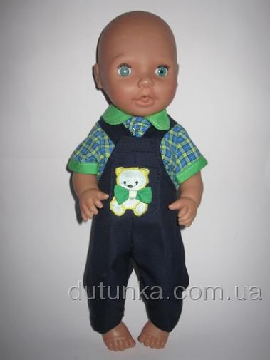 Комплект одежды  для пупса Мишка с бантом  (К38-133)  Dutunka