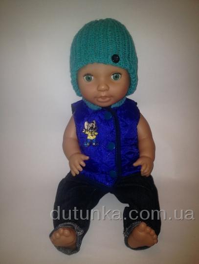 Комплект з демі жилеточкою для пупса-хлопчика Кот Том Dutunka