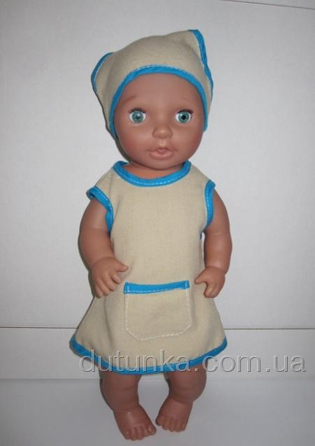 Плаття-пісочник літній з панамочкою Лазур Dutunka
